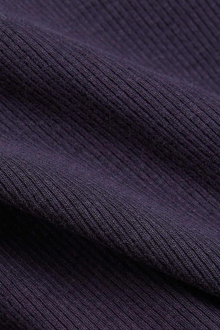 Henley long sleeve top made of organic cotton, NAVY, detail image number 4
