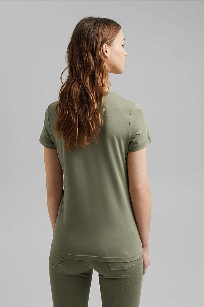 T-shirt imprimé en coton biologique, LIGHT KHAKI, detail image number 3