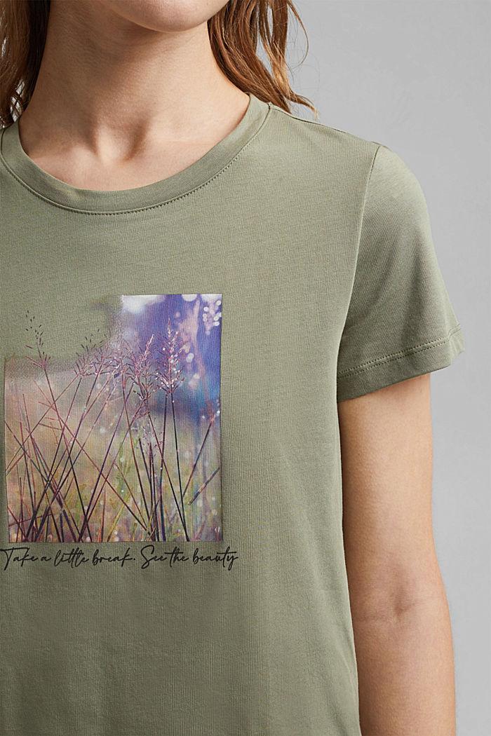 T-shirt imprimé en coton biologique, LIGHT KHAKI, detail image number 2