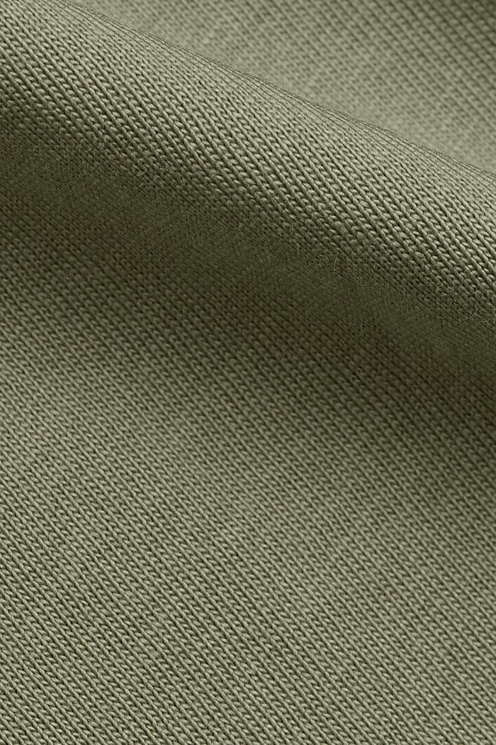 T-shirt imprimé en coton biologique, LIGHT KHAKI, detail image number 4