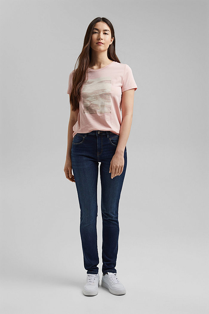 Organic cotton print T-shirt, NUDE, detail image number 1