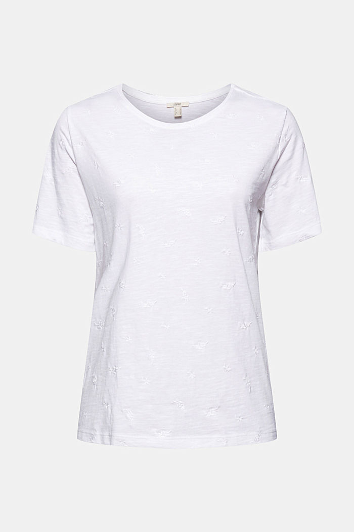 Recycled: top with embroidery and organic cotton, WHITE, detail image number 6