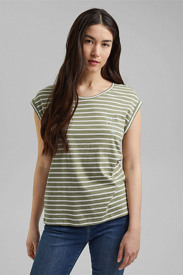 Organic cotton T-shirt, LIGHT KHAKI, detail image number 0