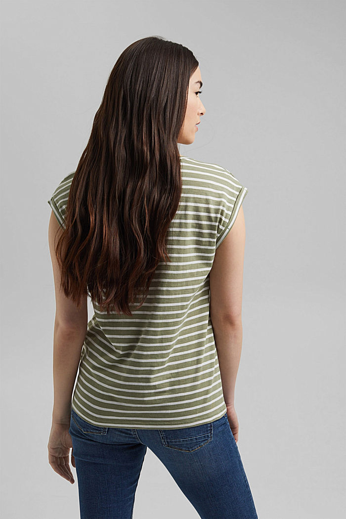 Organic cotton T-shirt, LIGHT KHAKI, detail image number 3