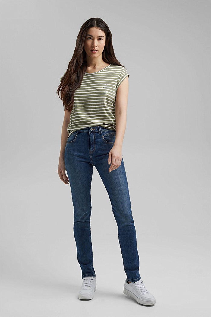 Organic cotton T-shirt, LIGHT KHAKI, detail image number 5