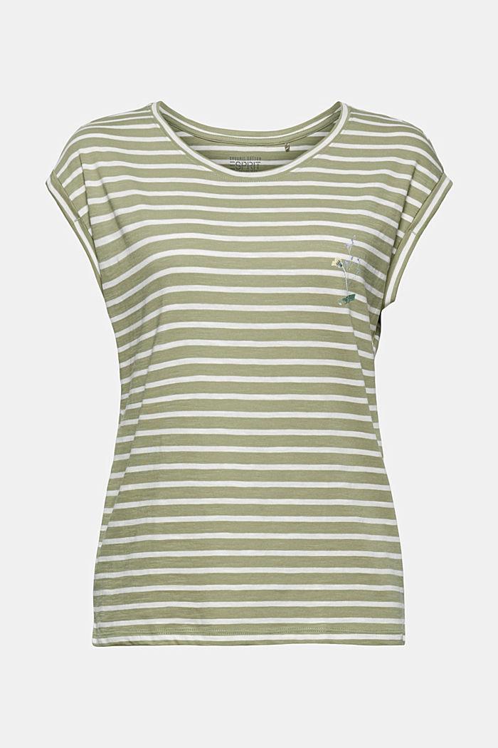 Organic cotton T-shirt, LIGHT KHAKI, detail image number 6