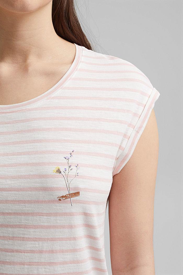 T-shirt van biologisch katoen, NUDE, detail image number 2