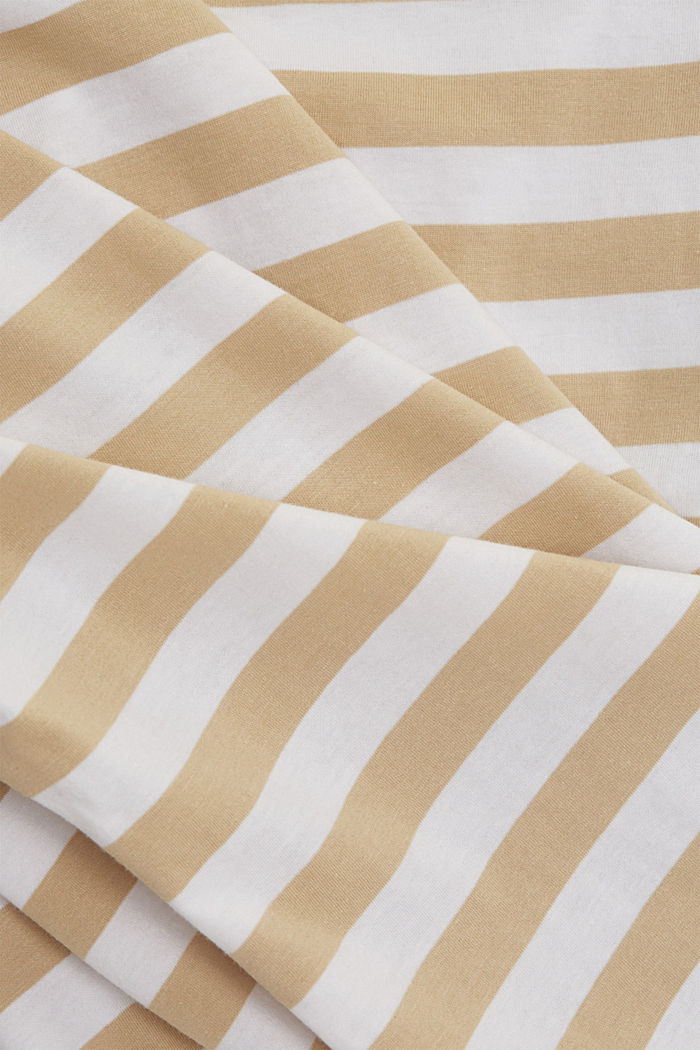 Striped T-shirt made of 100% organic cotton, SAND, detail image number 4