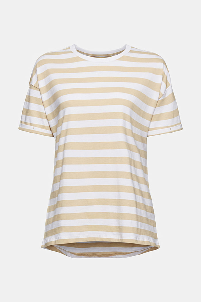 Striped T-shirt made of 100% organic cotton, SAND, detail image number 7
