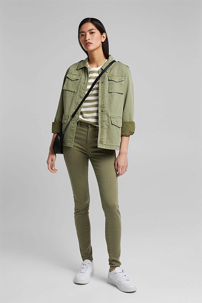 Gestreiftes T-Shirt aus 100% Bio-Baumwolle, LIGHT KHAKI, detail image number 1