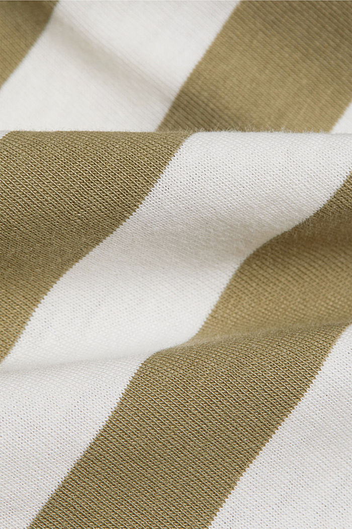 Striped T-shirt made of 100% organic cotton, LIGHT KHAKI, detail image number 4