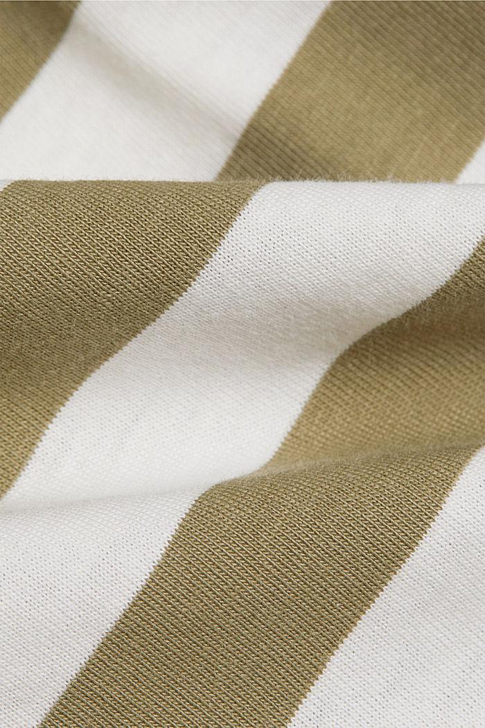 Gestreiftes T-Shirt aus 100% Bio-Baumwolle, LIGHT KHAKI, detail image number 4
