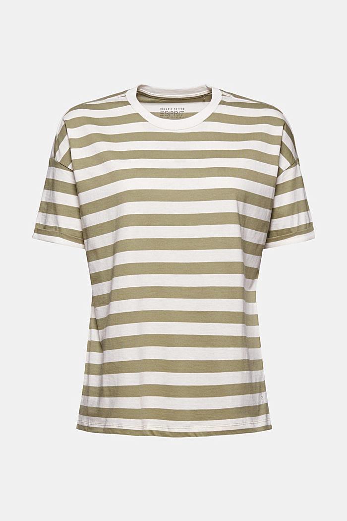 Gestreiftes T-Shirt aus 100% Bio-Baumwolle, LIGHT KHAKI, detail image number 5