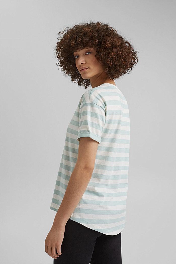 Gestreiftes T-Shirt aus 100% Bio-Baumwolle, LIGHT AQUA GREEN, detail image number 3