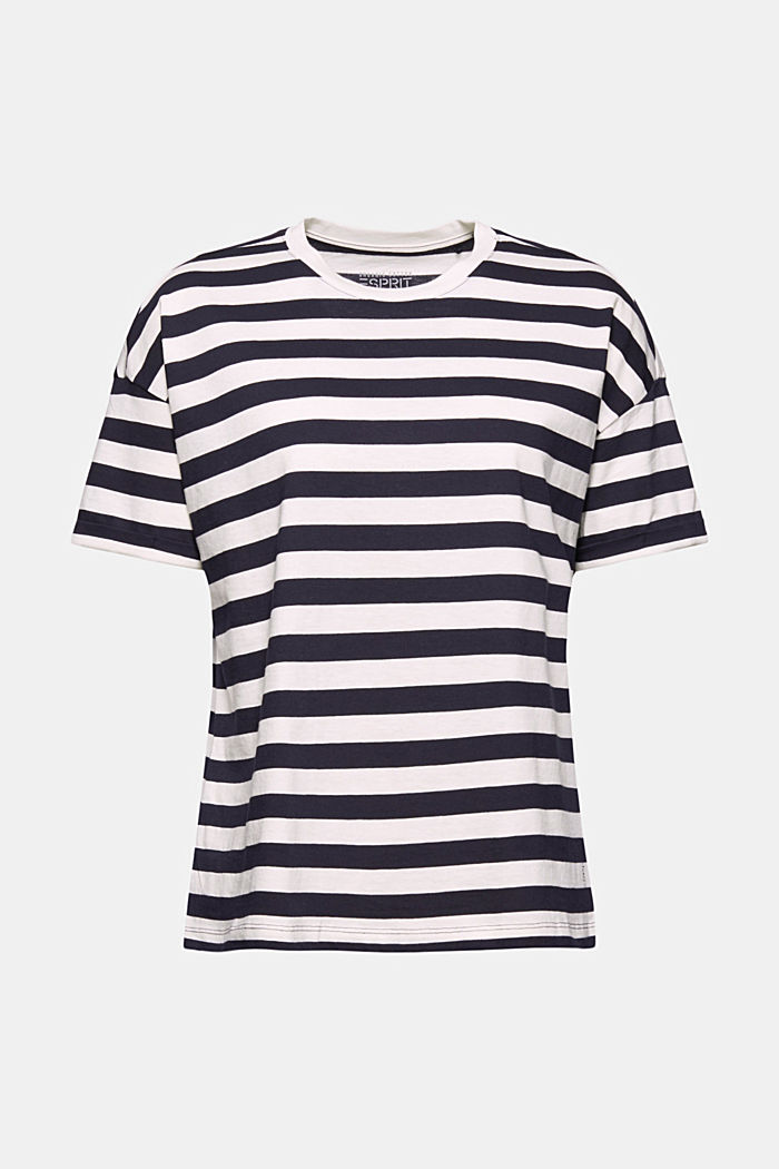 Striped T-shirt made of 100% organic cotton, NAVY, detail image number 7