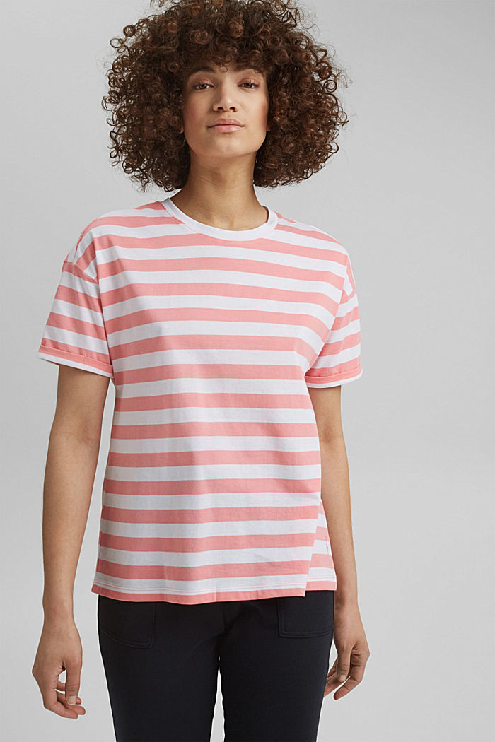 Striped T-shirt made of 100% organic cotton, PINK, detail image number 0