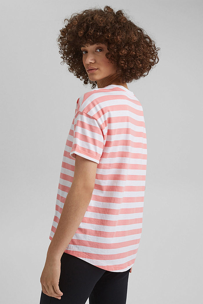 Striped T-shirt made of 100% organic cotton, PINK, detail image number 3