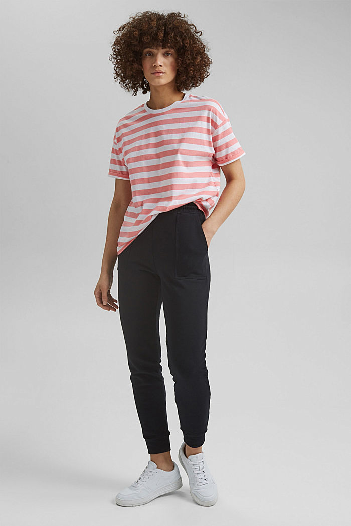 Striped T-shirt made of 100% organic cotton, PINK, detail image number 1