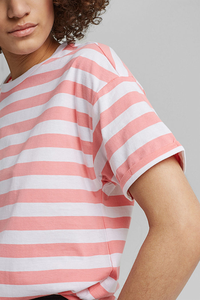 Striped T-shirt made of 100% organic cotton, PINK, detail image number 2