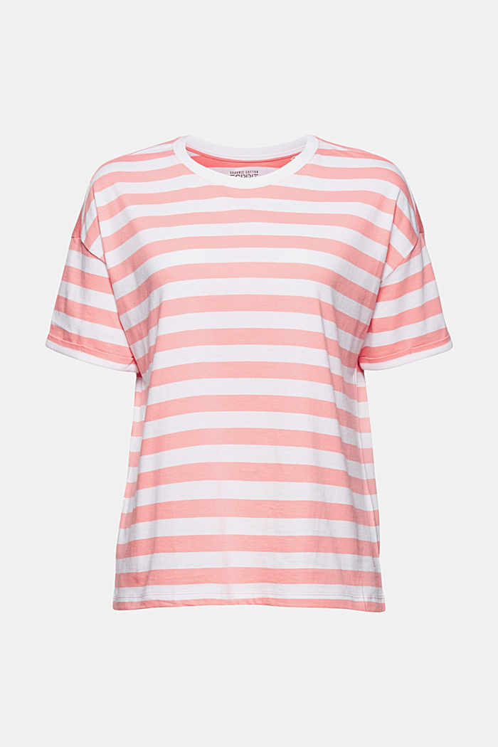 Striped T-shirt made of 100% organic cotton, PINK, detail image number 5
