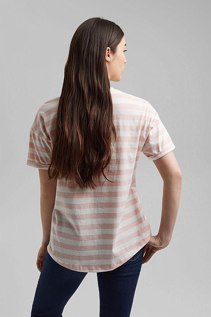 Gestreept T-shirt van 100% biologisch katoen, NUDE, detail image number 3
