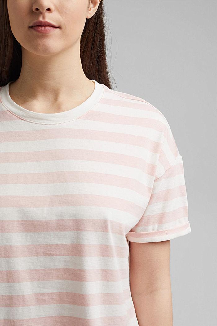 Gestreept T-shirt van 100% biologisch katoen, NUDE, detail image number 2