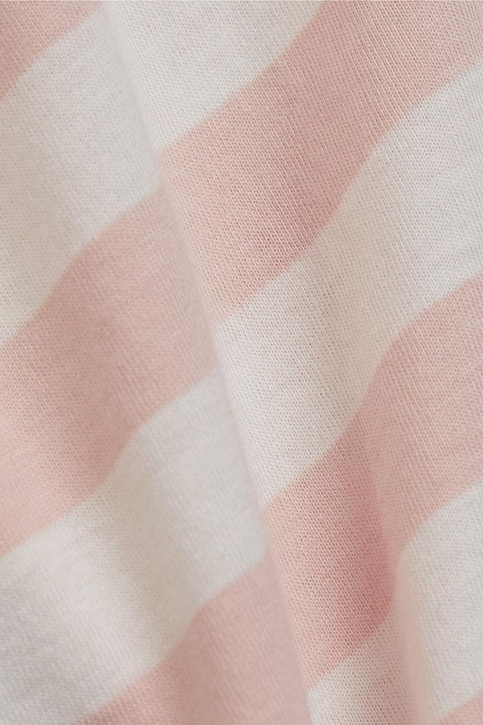 Gestreept T-shirt van 100% biologisch katoen, NUDE, detail image number 4