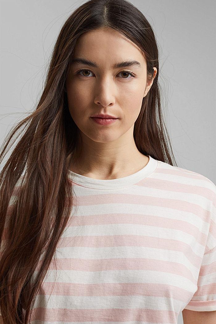 Gestreept T-shirt van 100% biologisch katoen, NUDE, detail image number 6