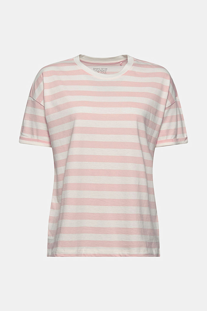 Gestreept T-shirt van 100% biologisch katoen, NUDE, detail image number 7