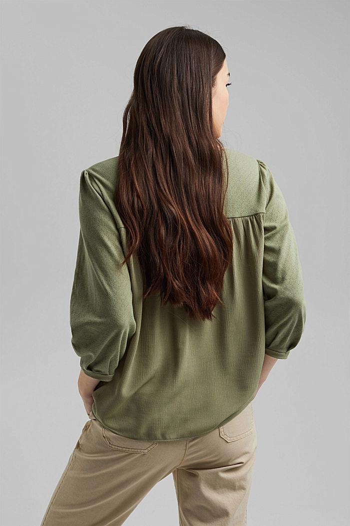 Shirt aus LENZING™ ECOVERO™ und Organic Cotton, LIGHT KHAKI, detail image number 3