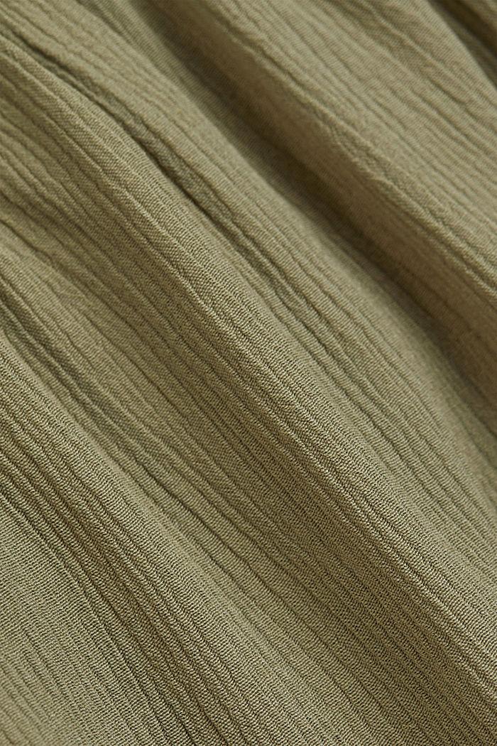 Shirt aus LENZING™ ECOVERO™ und Organic Cotton, LIGHT KHAKI, detail image number 4