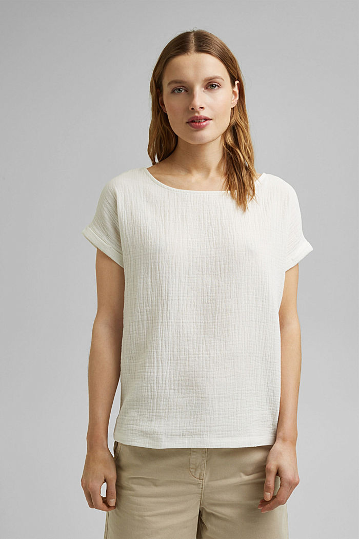 Boxy mixed material top containing organic cotton, ICE, detail image number 0