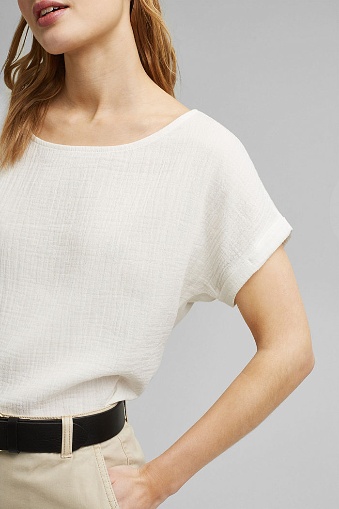 Boxy mixed material top containing organic cotton, ICE, detail image number 2