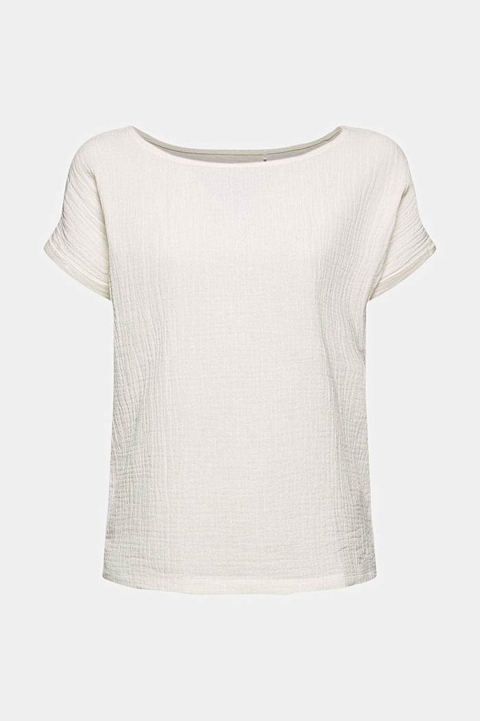 Boxy mixed material top containing organic cotton, ICE, detail image number 5
