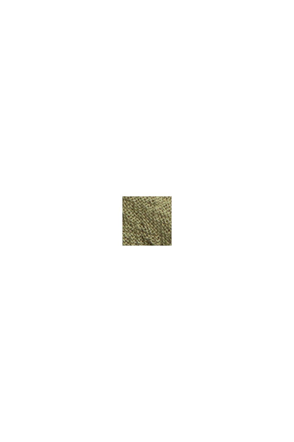 Boxy Materialmix-Shirt mit Bio-Baumwolle, LIGHT KHAKI, swatch