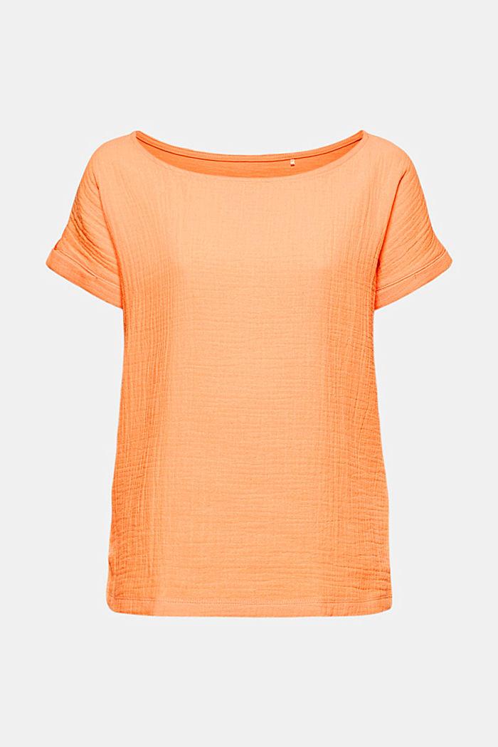 Boxy Materialmix-Shirt mit Bio-Baumwolle, PEACH, detail image number 5