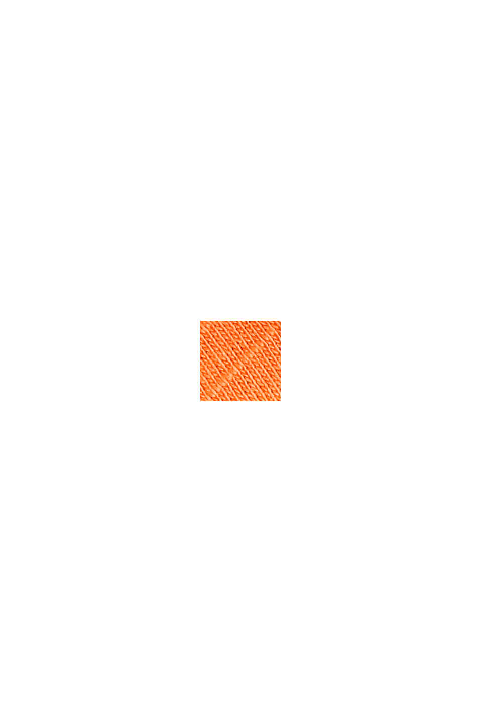 Boxy Materialmix-Shirt mit Bio-Baumwolle, PEACH, swatch