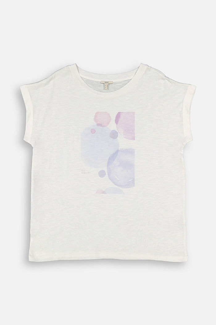 CURVY print T-shirt, organic cotton/TENCEL™, OFF WHITE, detail image number 6