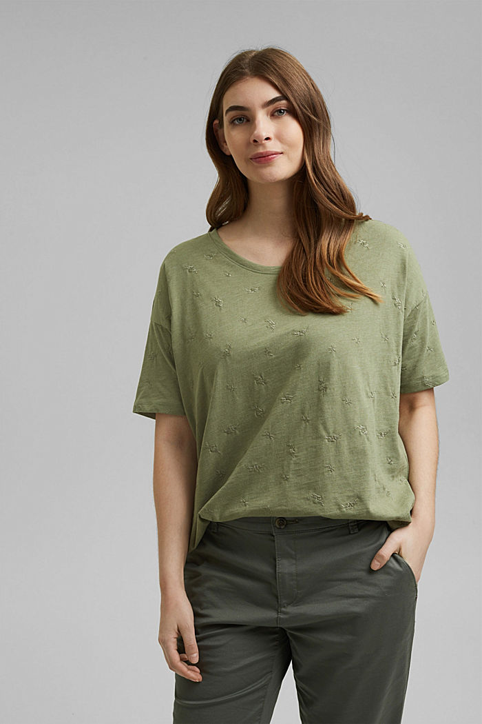 Recycled: CURVY T-shirt with embroidery
