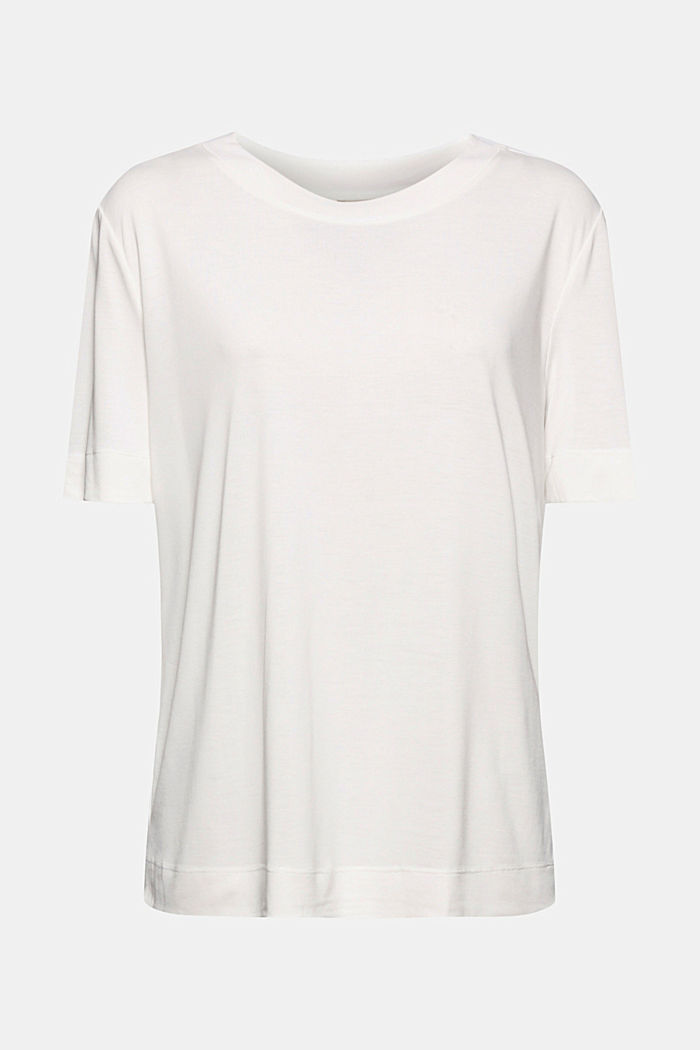 Flowing T-shirt with modal, OFF WHITE, detail image number 6