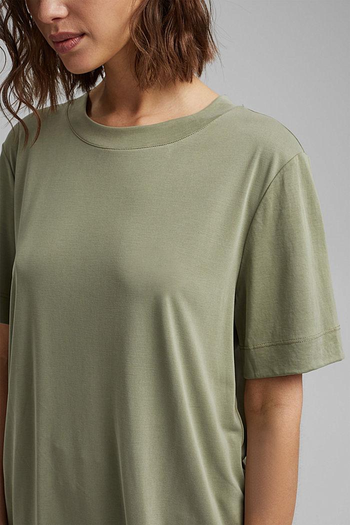 Fließendes T-Shirt mit Modal, LIGHT KHAKI, detail image number 2