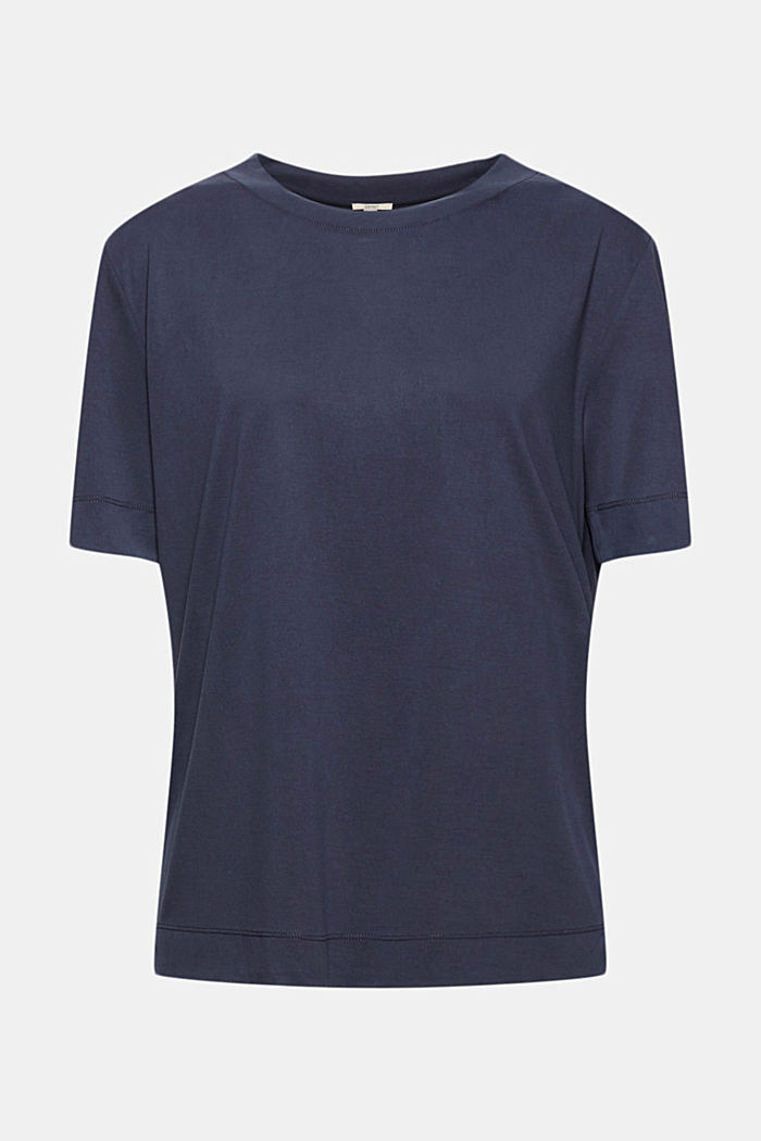Flowing T-shirt with modal, NAVY, detail image number 5