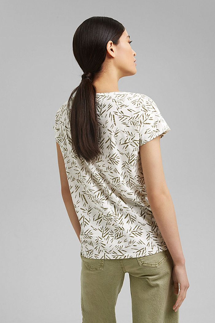 T-Shirt mit Print aus 100% Bio-Baumwolle, OFF WHITE, detail image number 3