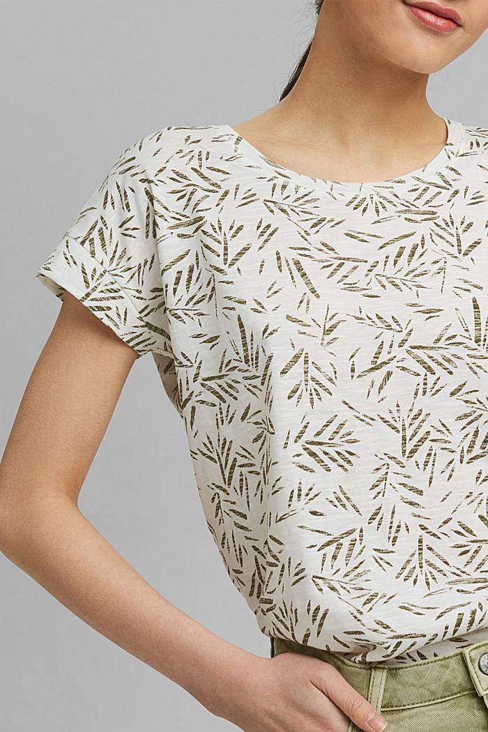 T-Shirt mit Print aus 100% Bio-Baumwolle, OFF WHITE, detail image number 2