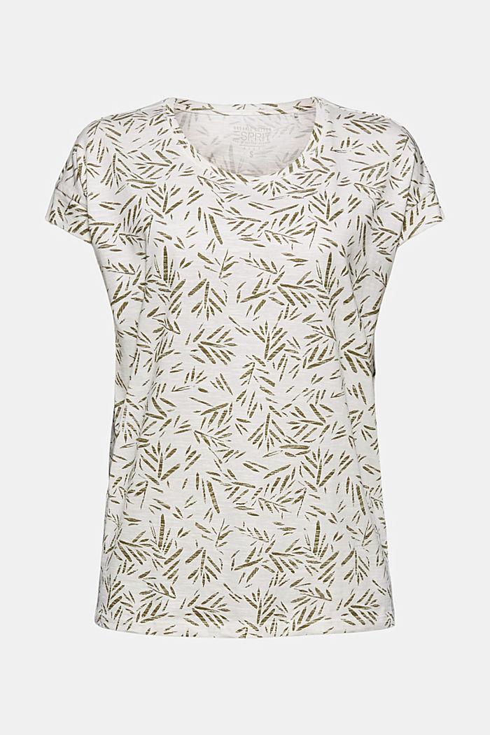 T-Shirt mit Print aus 100% Bio-Baumwolle, OFF WHITE, detail image number 5