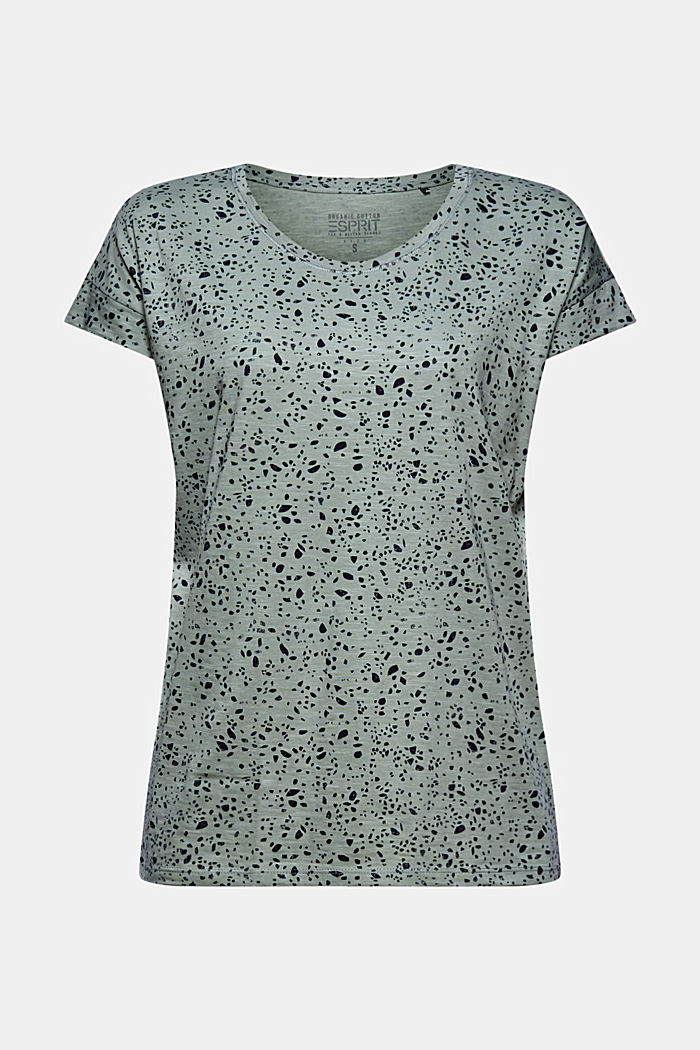 Printed T-shirt made of 100% organic cotton, TURQUOISE, detail image number 5