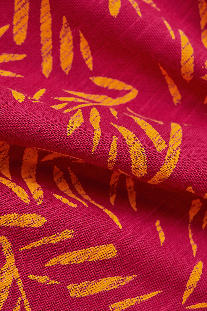 Printed T-shirt made of 100% organic cotton, DARK PINK, detail image number 4