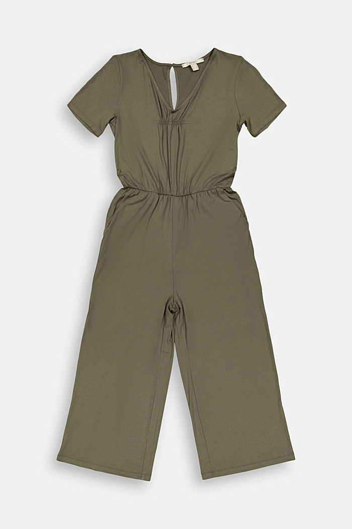 Jersey jumpsuit made of LENZING™ ECOVERO™, KHAKI GREEN, detail image number 6