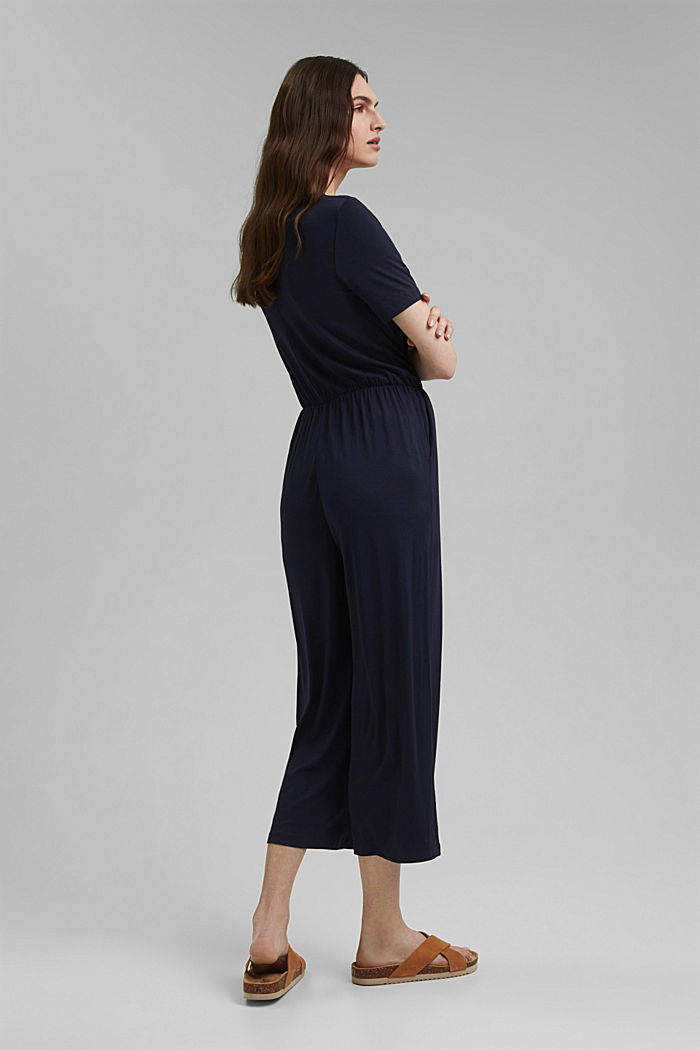 Jersey jumpsuit made of LENZING™ ECOVERO™, NAVY, detail image number 2