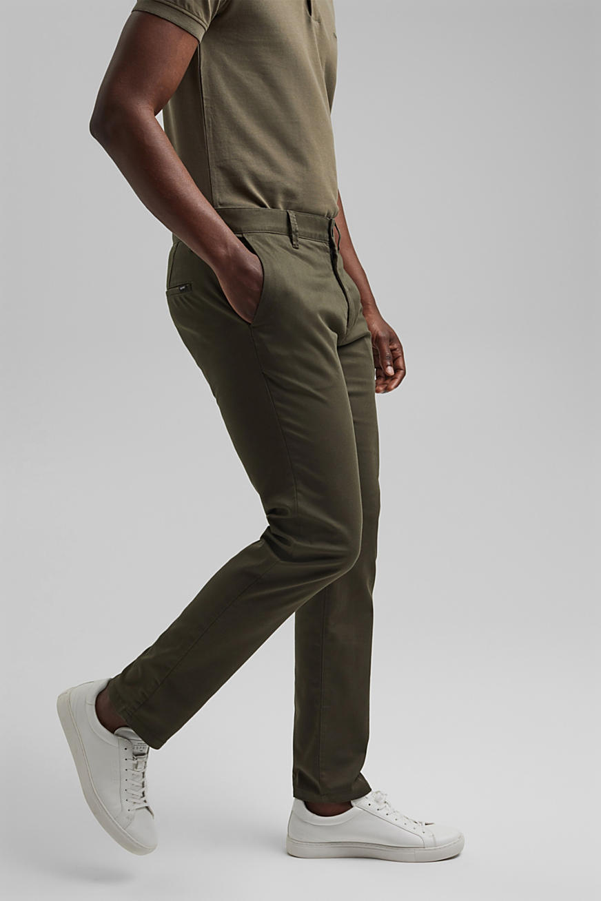 Pantaloni stretch con COOLMAX® e cotone biologico